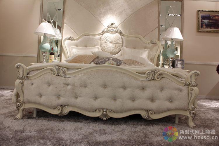 白色生态板欧式床