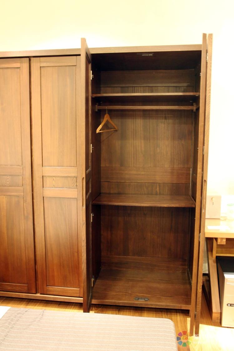 古典实木衣柜 榆木05-10四门衣柜